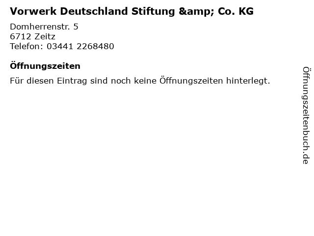 Vorwerk Deutschland Stiftung & Co. KG in Zeitz: Adresse und Öffnungszeiten