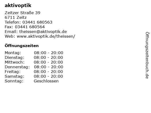 aktivoptik in Zeitz: Adresse und Öffnungszeiten