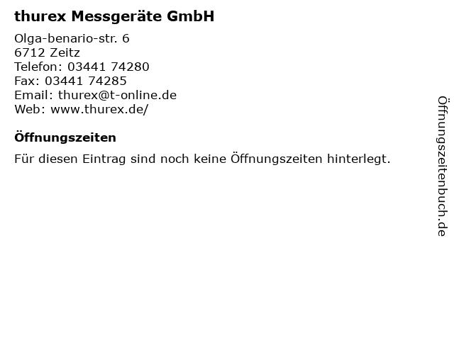 Thurex GmbH & Co. Meßgeräte KG in Zeitz: Adresse und Öffnungszeiten