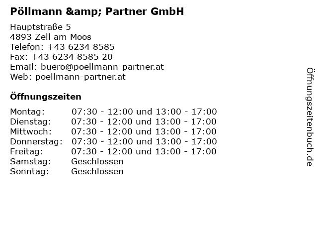 Pöllmann & Partner GmbH in Zell am Moos: Adresse und Öffnungszeiten