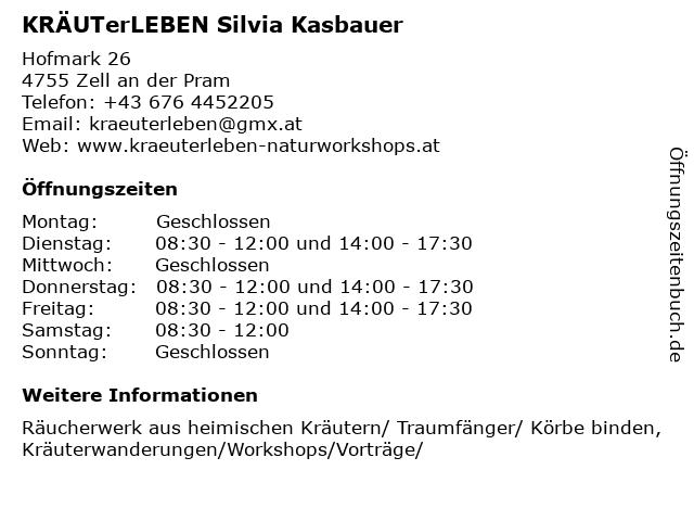 KRÄUTERerLEBEN in Zell an der Pram: Adresse und Öffnungszeiten