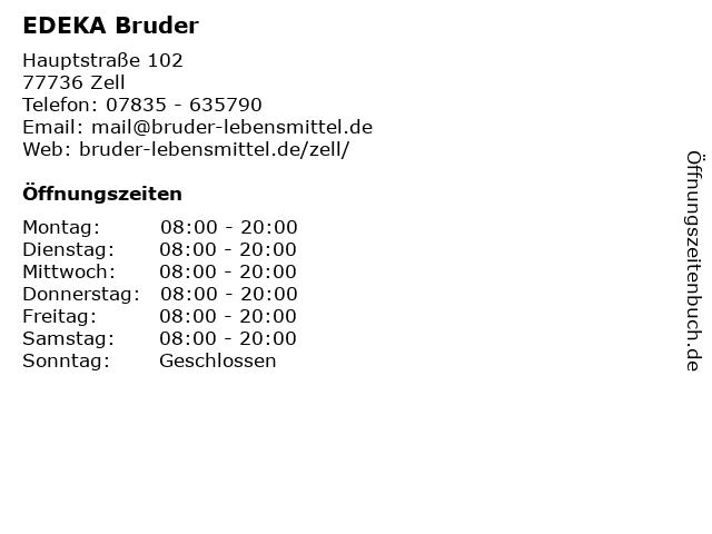 EDEKA Bruder in Zell: Adresse und Öffnungszeiten