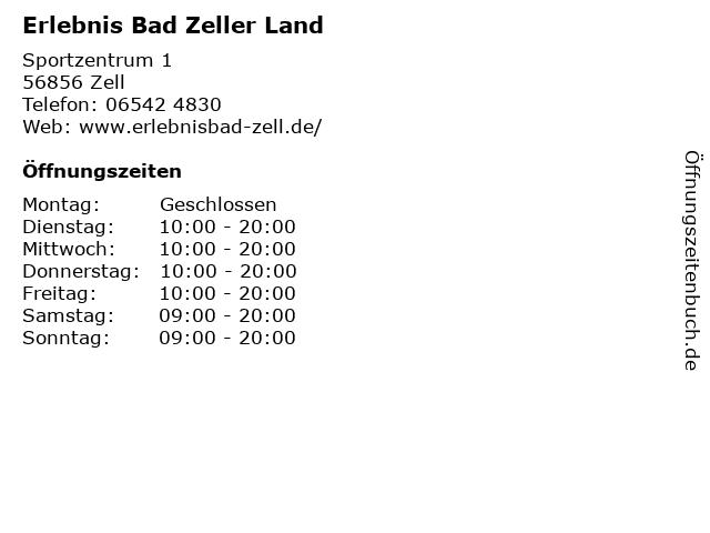 Erlebnis Bad Zeller Land in Zell: Adresse und Öffnungszeiten