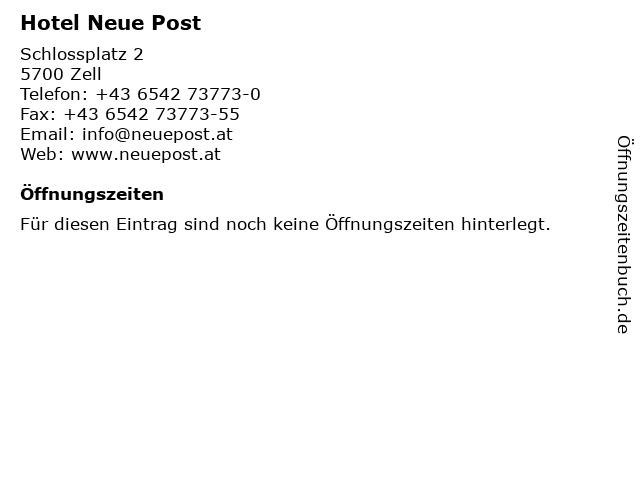 Hotel Neue Post in Zell: Adresse und Öffnungszeiten
