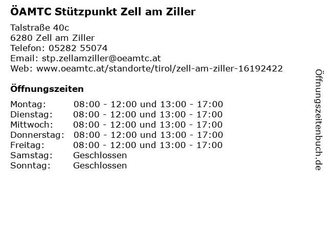 ÖAMTC Stützpunkt in Zell: Adresse und Öffnungszeiten