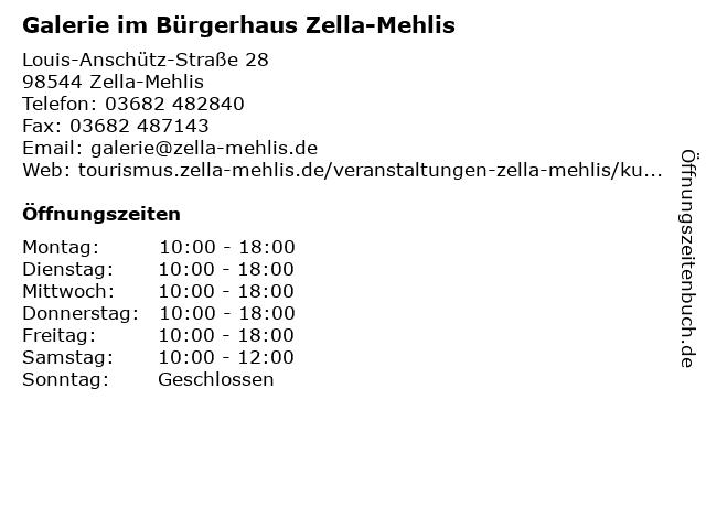 Galerie im Bürgerhaus Zella-Mehlis in Zella-Mehlis: Adresse und Öffnungszeiten
