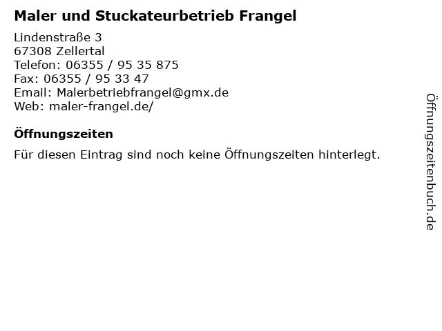 Maler und Stuckateurbetrieb Frangel in Zellertal: Adresse und Öffnungszeiten