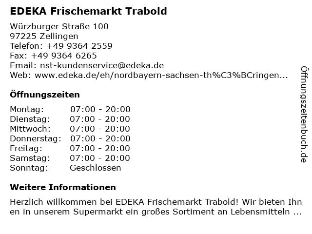 EDEKA Frischemarkt Trabold in Zellingen: Adresse und Öffnungszeiten