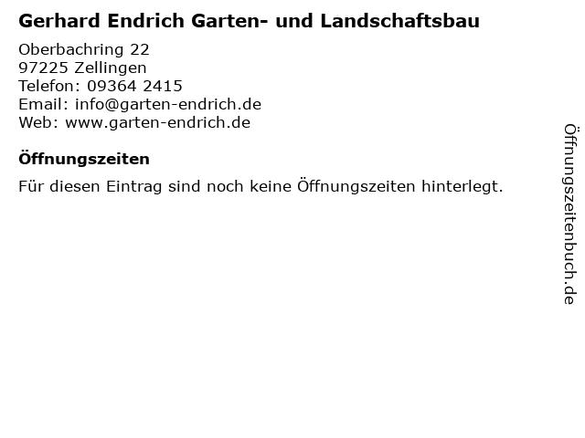 Gerhard Endrich Garten- und Landschaftsbau in Zellingen: Adresse und Öffnungszeiten