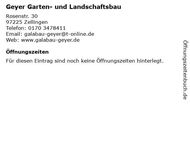 Geyer Garten- und Landschaftsbau in Zellingen: Adresse und Öffnungszeiten
