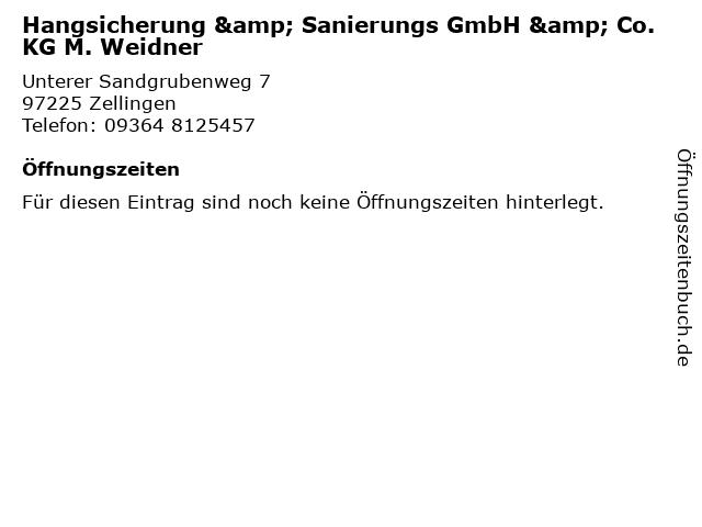 Hangsicherung & Sanierungs GmbH & Co. KG M. Weidner in Zellingen: Adresse und Öffnungszeiten
