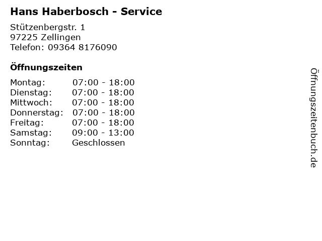 Hans Haberbosch - Service in Zellingen: Adresse und Öffnungszeiten
