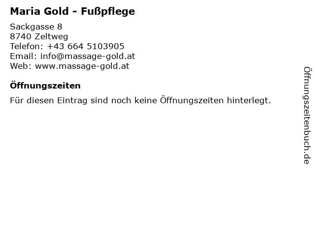 Maria Gold - Fußpflege in Zeltweg: Adresse und Öffnungszeiten
