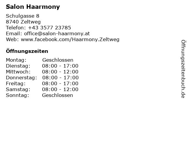 Salon Haarmony in Zeltweg: Adresse und Öffnungszeiten