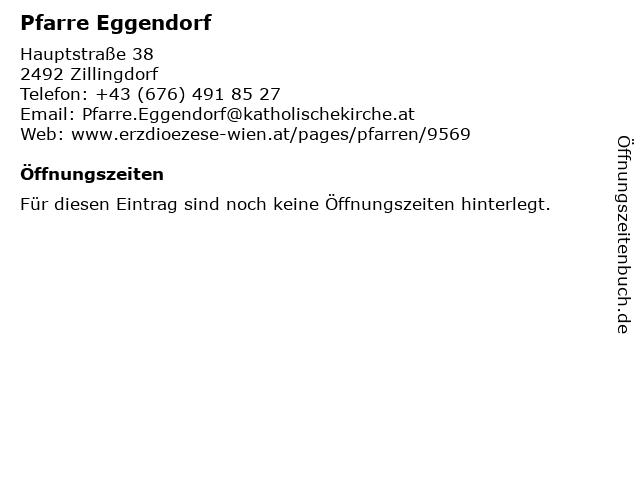 Pfarre Eggendorf in Zillingdorf: Adresse und Öffnungszeiten