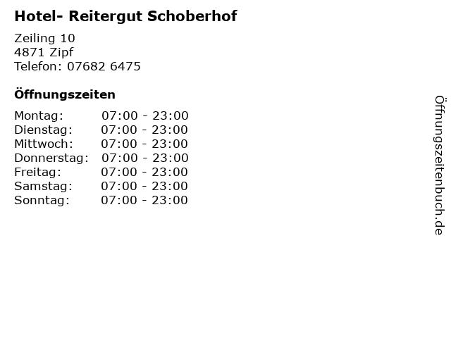 Hotel- Reitergut Schoberhof in Zipf: Adresse und Öffnungszeiten
