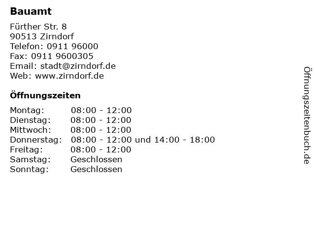 Bauamt in Zirndorf: Adresse und Öffnungszeiten