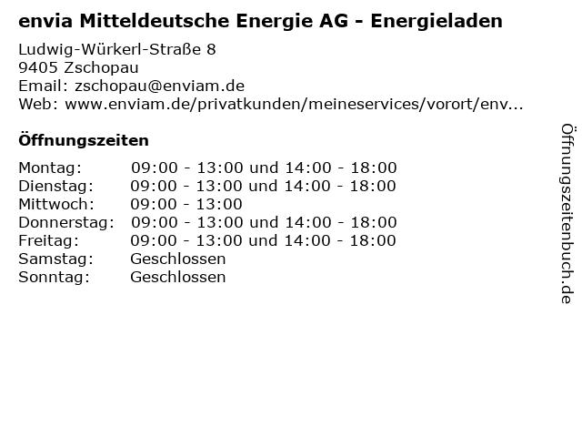 envia Mitteldeutsche Energie AG - Energieladen in Zschopau: Adresse und Öffnungszeiten