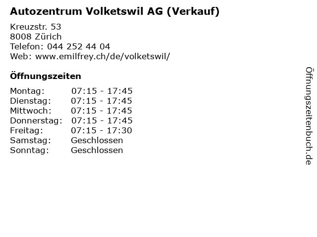Autozentrum Volketswil AG (Verkauf) in Zürich: Adresse und Öffnungszeiten