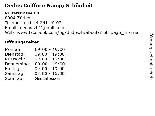 Dedos Coiffure & Schönheit in Zürich: Adresse und Öffnungszeiten