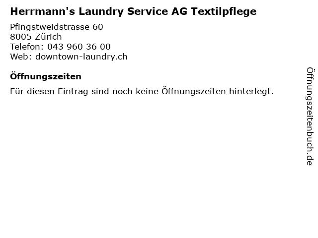 Herrmann's Laundry Service AG Textilpflege in Zürich: Adresse und Öffnungszeiten