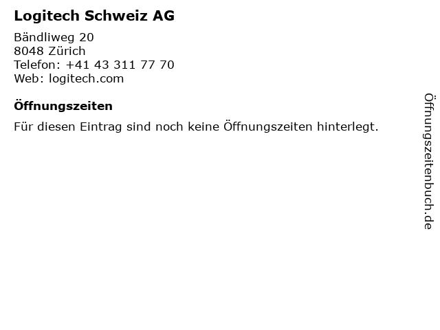 Logitech Schweiz AG in Zürich: Adresse und Öffnungszeiten