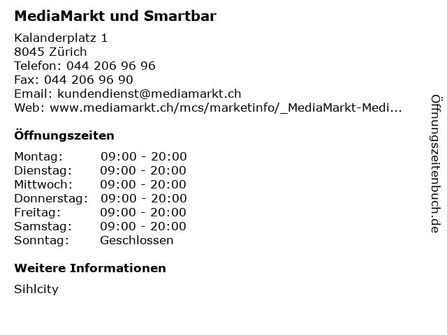 MediaMarkt in Zürich: Adresse und Öffnungszeiten