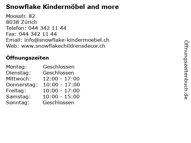 ᐅ öffnungszeiten Snowflake Kindermöbel And More Moosstr 82 In
