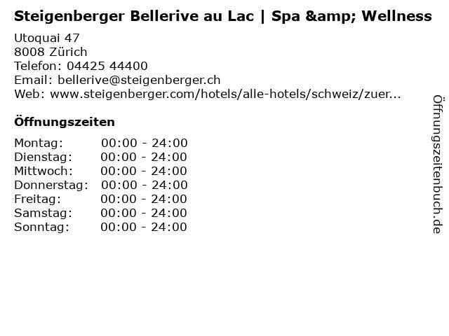 Steigenberger Bellerive au Lac | Spa & Wellness in Zürich: Adresse und Öffnungszeiten