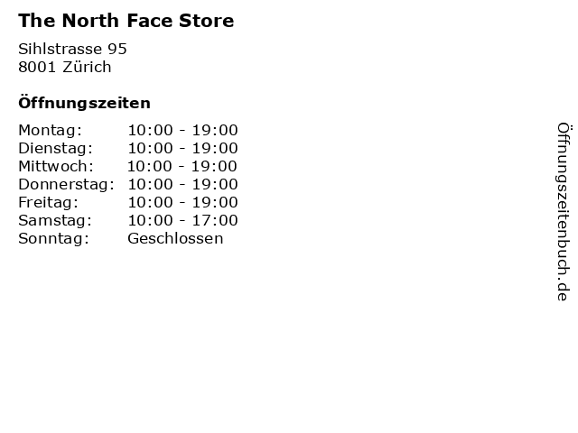 "sneakers for cheap d0e6b 0a20e ᐅ Öffnungszeiten ""The North Face Store"" 