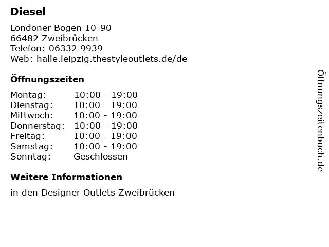 Diesel in Zweibrücken: Adresse und Öffnungszeiten