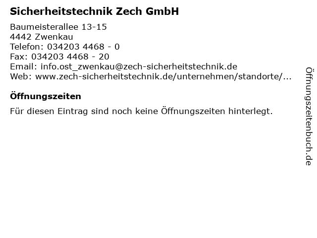Sicherheitstechnik Zech GmbH in Zwenkau: Adresse und Öffnungszeiten
