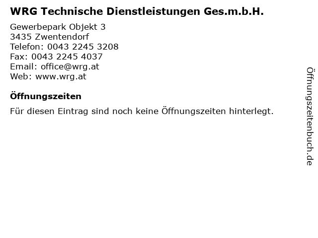 WRG Technische Dienstleistungen Ges.m.b.H. in Zwentendorf: Adresse und Öffnungszeiten