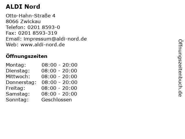 ALDI Nord in Zwickau: Adresse und Öffnungszeiten