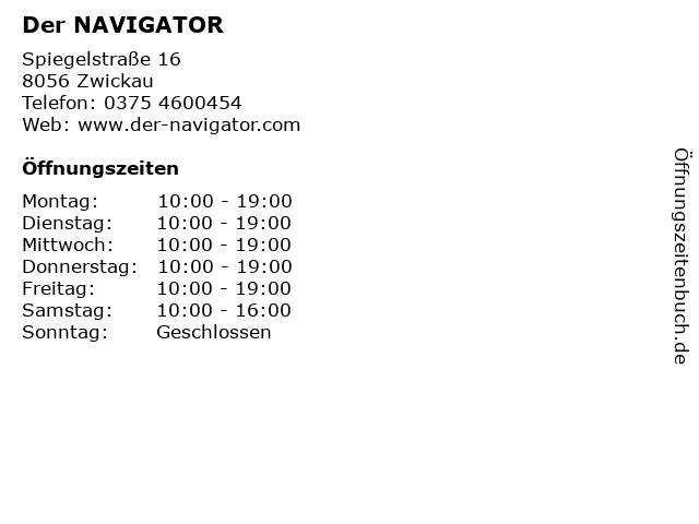 Der NAVIGATOR in Zwickau: Adresse und Öffnungszeiten