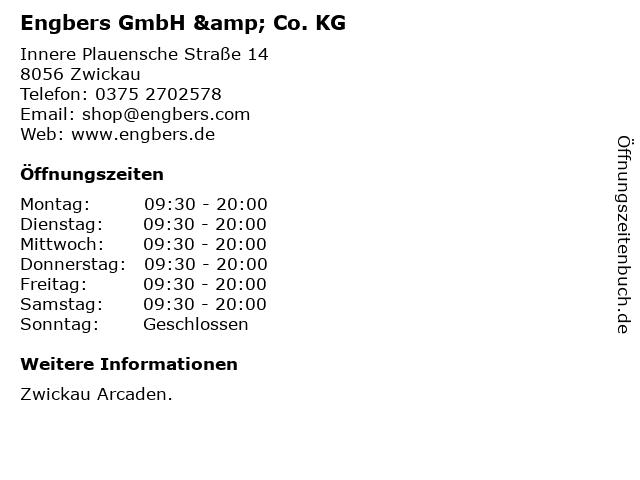Engbers GmbH & Co. KG in Zwickau: Adresse und Öffnungszeiten