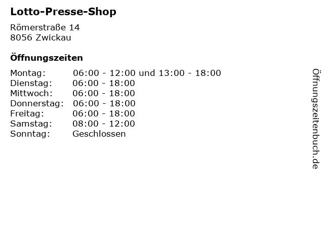 Lotto-Presse-Shop in Zwickau: Adresse und Öffnungszeiten