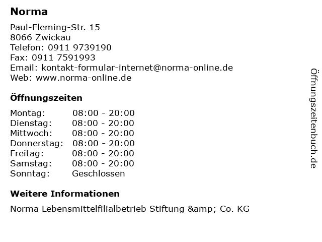 Norma in Zwickau: Adresse und Öffnungszeiten
