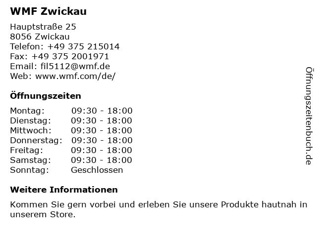 WMF in Zwickau: Adresse und Öffnungszeiten