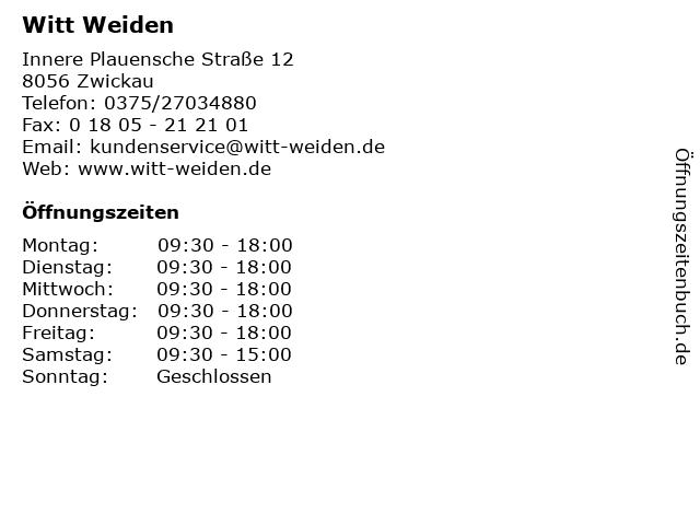 Witt Weiden in Zwickau: Adresse und Öffnungszeiten