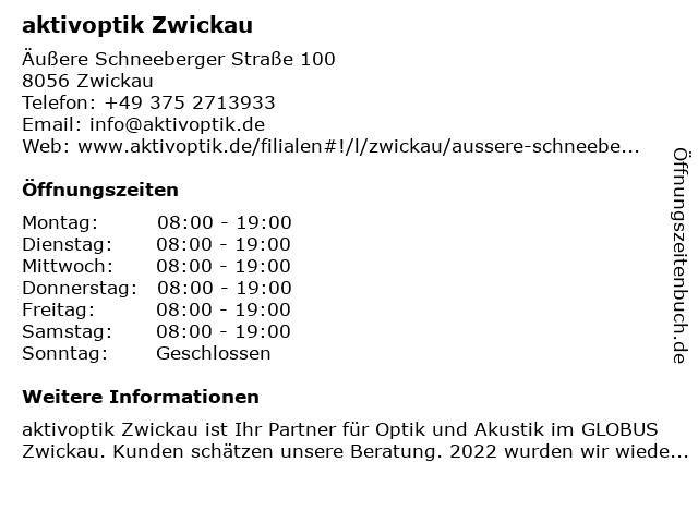 aktivoptik in Zwickau: Adresse und Öffnungszeiten